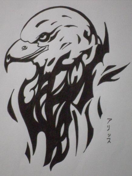 Aigle tribal missaliiice poeme et dessin cowblog - Dessin tribal facile ...